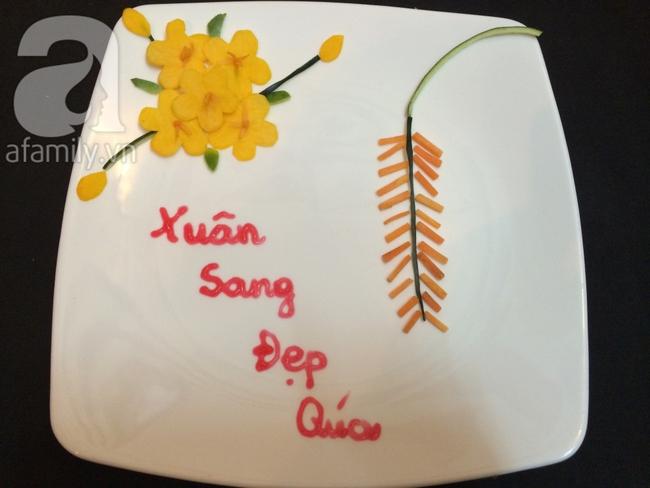 Để trang trí đĩa ăn ngày Tết đừng bỏ qua cách tỉa hoa siêu đơn giản sau đây! - Ảnh 6.