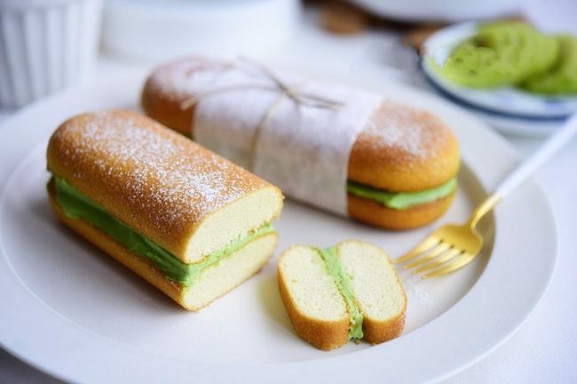 Bánh kẹp kem phô mai trà xanh vừa ngon vừa đẹp mắt - Ảnh 5.