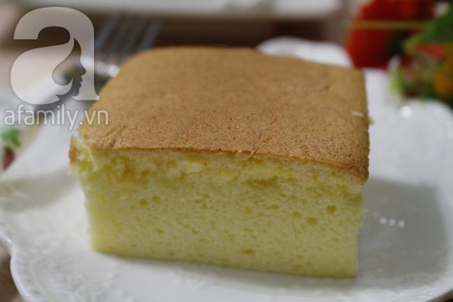 Công thức làm bánh bông lan phô mai Nhật Bản bất bại - Ảnh 10.