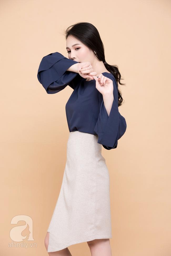 Cả tuần mặc đẹp: Đến sở làm không gì đẹp xinh hơn những thiết kế váy áo tay loe nữ tính - Ảnh 2.