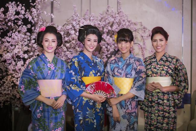 Hoa hậu Mỹ Linh, Ngọc Hân đọ sắc trong trang phục Kimono - Ảnh 8.