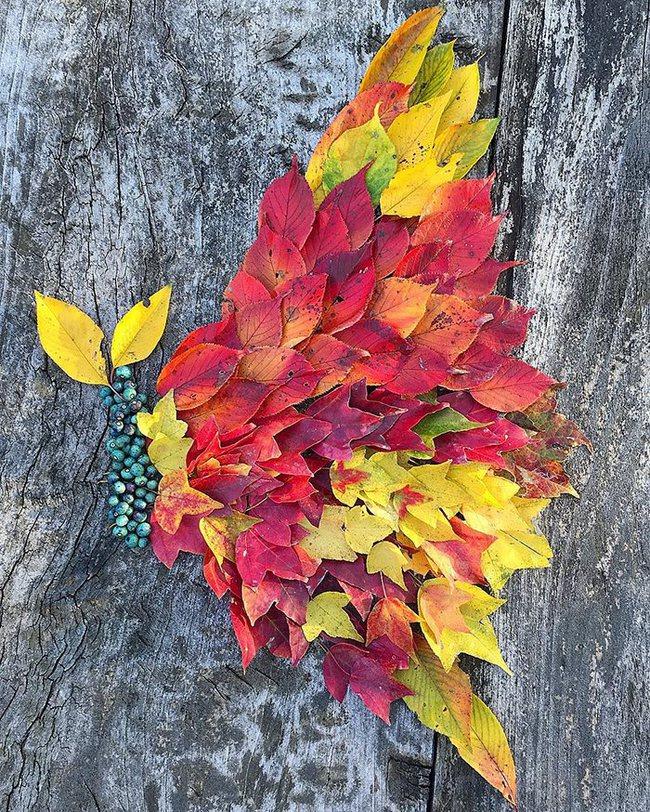 Mê mẩn với những tác phẩm nghệ thuật tuyệt đẹp từ... lá rụng - Ảnh 12.