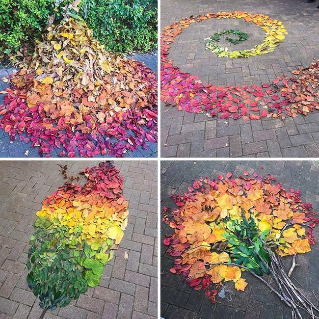 Mê mẩn với những tác phẩm nghệ thuật tuyệt đẹp từ... lá rụng - Ảnh 2.
