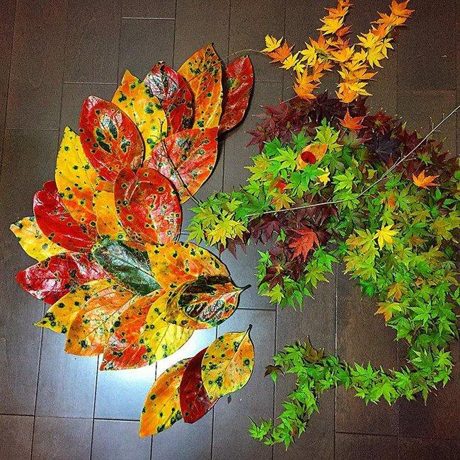 Mê mẩn với những tác phẩm nghệ thuật tuyệt đẹp từ... lá rụng - Ảnh 5.