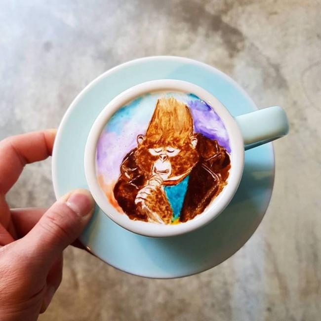 Độc đáo những tác phẩm nghệ thuật đỉnh cao trên tách cà phê - Ảnh 16.