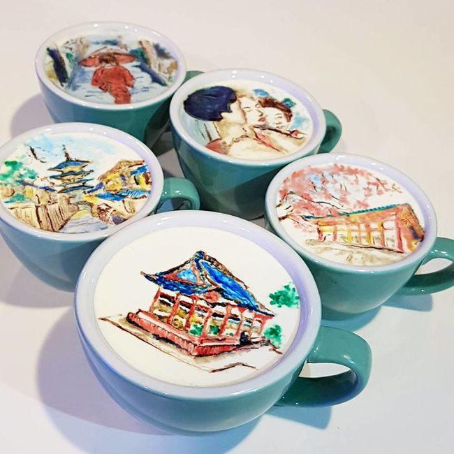Độc đáo những tác phẩm nghệ thuật đỉnh cao trên tách cà phê - Ảnh 1.