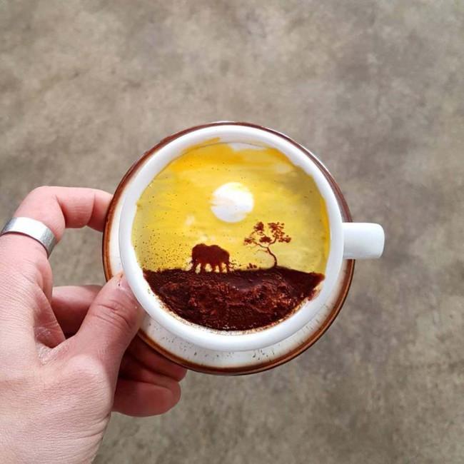 Độc đáo những tác phẩm nghệ thuật đỉnh cao trên tách cà phê - Ảnh 9.
