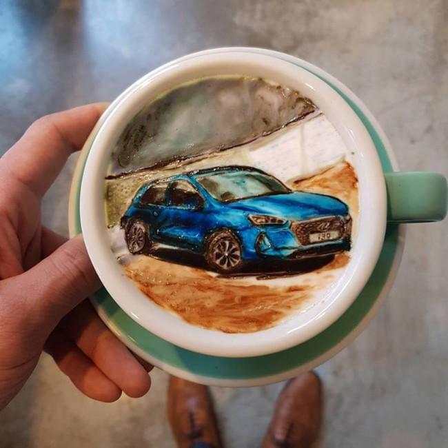 Độc đáo những tác phẩm nghệ thuật đỉnh cao trên tách cà phê - Ảnh 3.