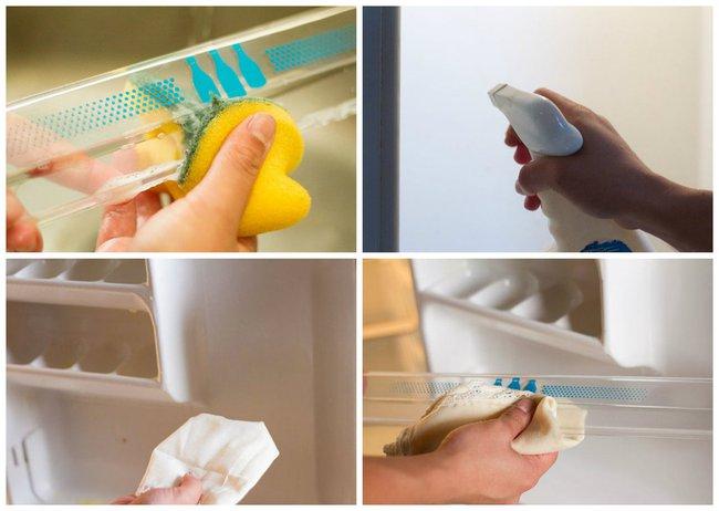 Làm sạch mọi ngóc ngách của tủ lạnh cực nhanh chỉ với nguyên liệu siêu rẻ tiền - Ảnh 4.