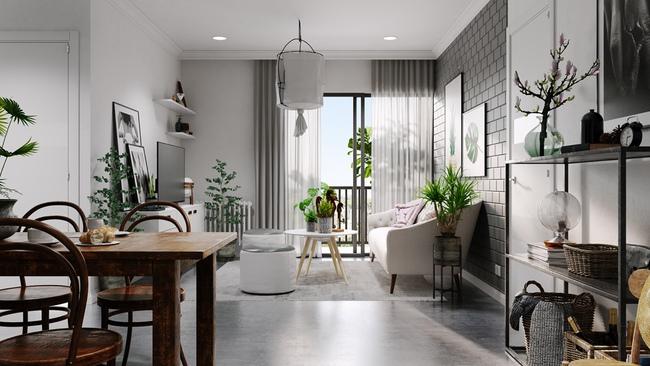 Chỉ sử dụng 2 màu trắng - xám nhưng căn hộ này chất đến độ chẳng chê được điểm nào - Ảnh 4.