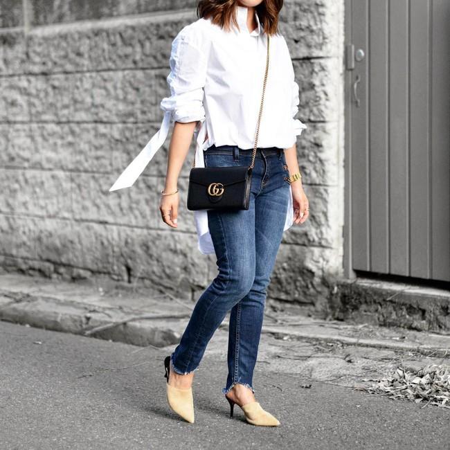 Có bao giờ bạn nghĩ quần jeans với giày cao gót lại hợp gu thế này? - Ảnh 14.