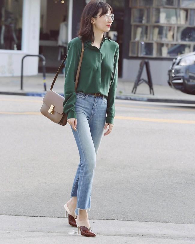 Có bao giờ bạn nghĩ quần jeans với giày cao gót lại hợp gu thế này? - Ảnh 12.