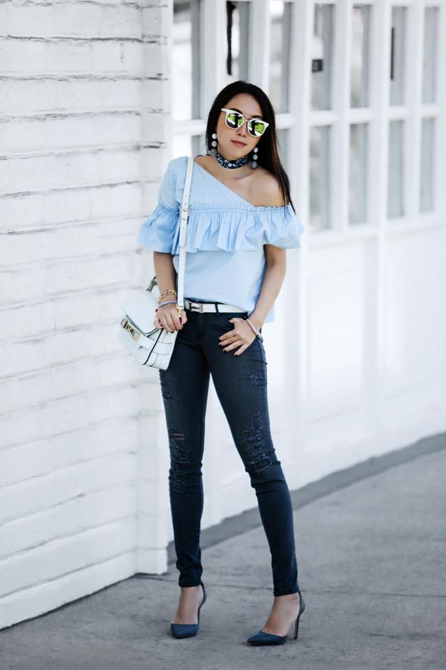 Có bao giờ bạn nghĩ quần jeans với giày cao gót lại hợp gu thế này? - Ảnh 2.