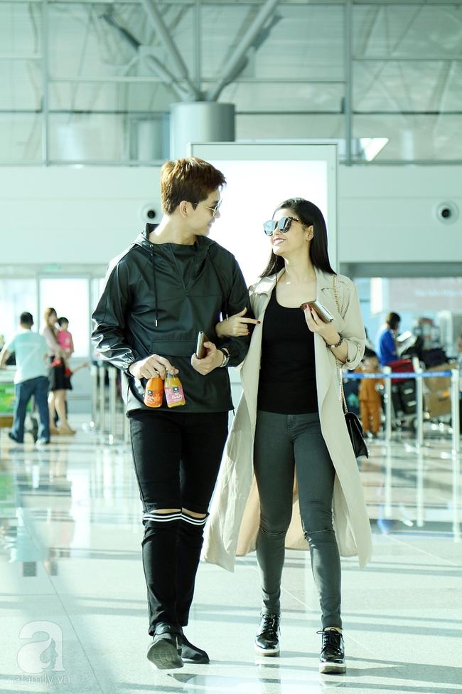 Trương Quỳnh Anh quậy tưng bừng khi cõng Tim giữa sân bay - Ảnh 2.