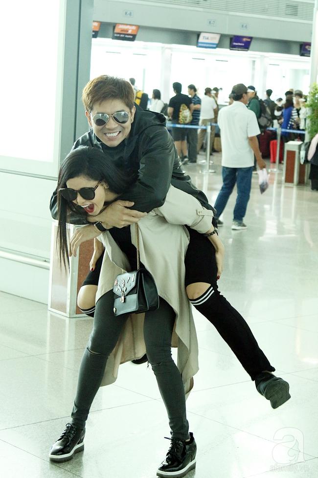 Trương Quỳnh Anh quậy tưng bừng khi cõng Tim giữa sân bay - Ảnh 8.