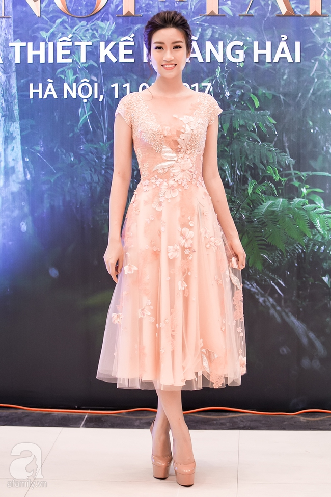 Hoa hậu Đỗ Mỹ Linh ngọt ngào như một nàng công chúa trong chiếc váy bồng bềnh - Ảnh 7.