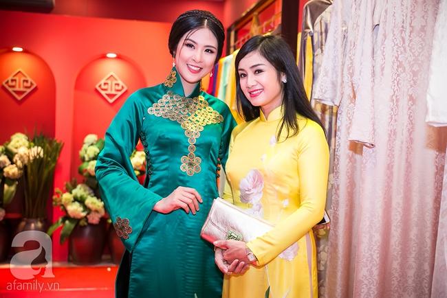 Ngọc nữ màn ảnh một thời - Thu Hà đẹp thanh lịch bên Hoa hậu Ngọc Hân - Ảnh 4.