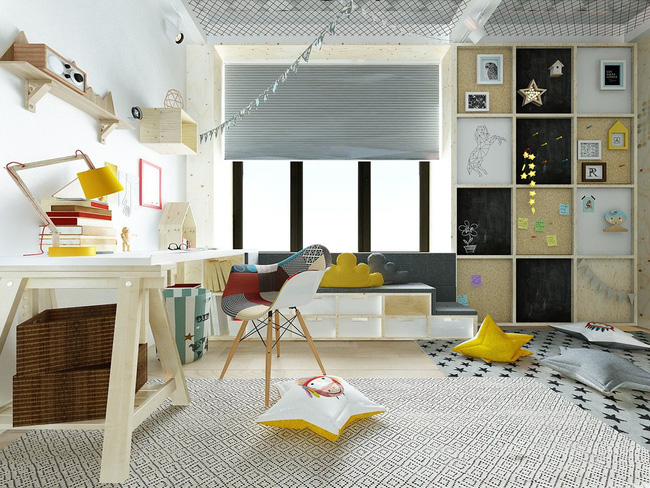 10 mẫu phòng ngủ cho bé đầy màu sắc và không gian vui chơi - Ảnh 1.