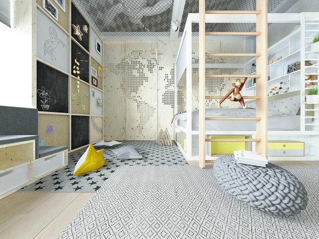 10 mẫu phòng ngủ cho bé đầy màu sắc và không gian vui chơi - Ảnh 3.