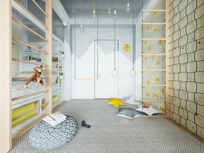 10 mẫu phòng ngủ cho bé đầy màu sắc và không gian vui chơi - Ảnh 4.