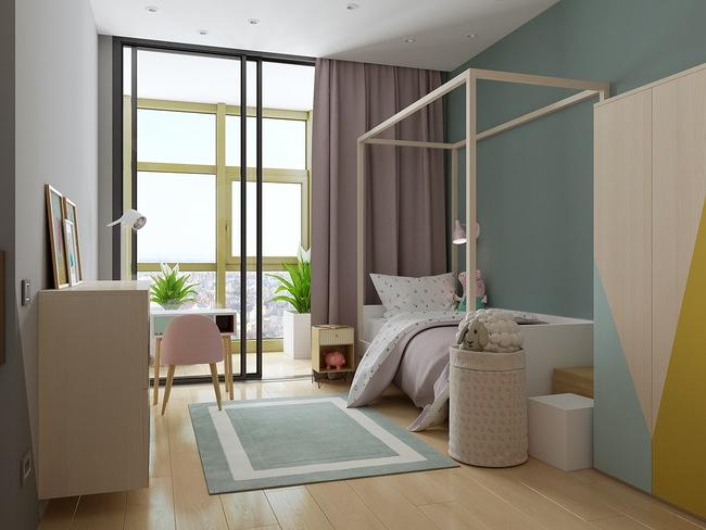 10 mẫu phòng ngủ cho bé đầy màu sắc và không gian vui chơi - Ảnh 5.