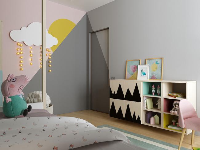 10 mẫu phòng ngủ cho bé đầy màu sắc và không gian vui chơi - Ảnh 6.