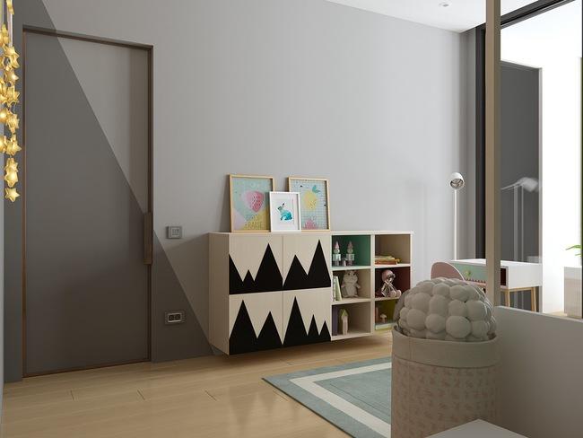 10 mẫu phòng ngủ cho bé đầy màu sắc và không gian vui chơi - Ảnh 8.