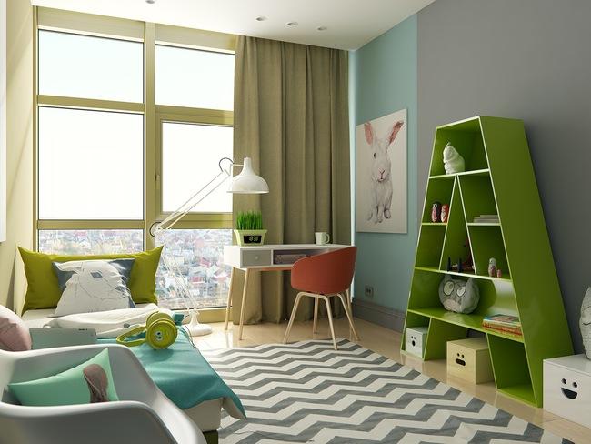 10 mẫu phòng ngủ cho bé đầy màu sắc và không gian vui chơi - Ảnh 9.