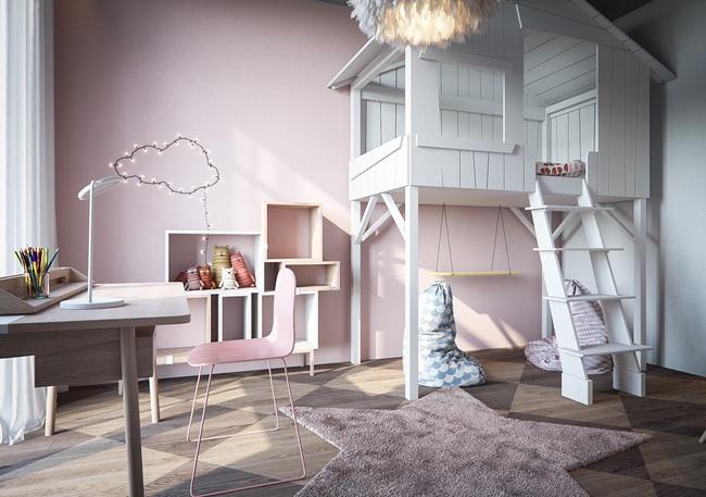 10 mẫu phòng ngủ cho bé đầy màu sắc và không gian vui chơi - Ảnh 14.