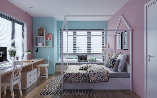 10 mẫu phòng ngủ cho bé đầy màu sắc và không gian vui chơi - Ảnh 20.