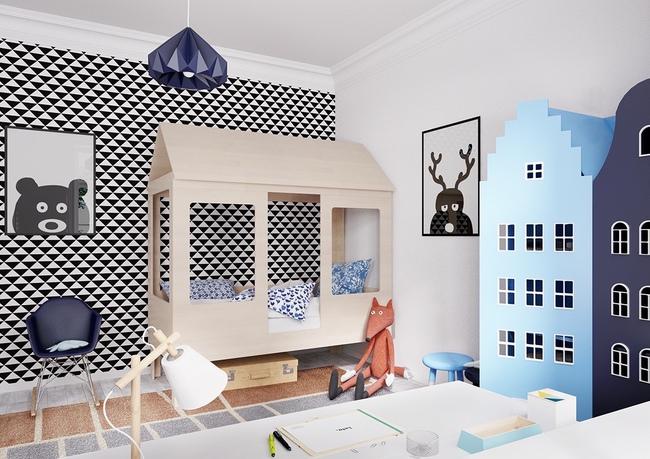 10 mẫu phòng ngủ cho bé đầy màu sắc và không gian vui chơi - Ảnh 22.