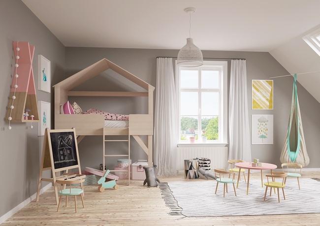 10 mẫu phòng ngủ cho bé đầy màu sắc và không gian vui chơi - Ảnh 23.