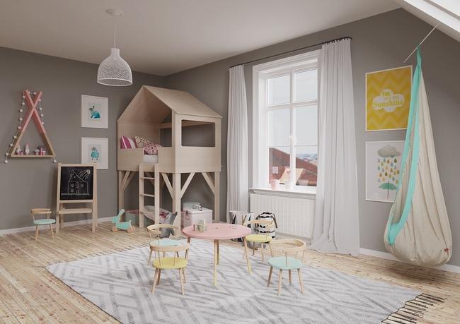 10 mẫu phòng ngủ cho bé đầy màu sắc và không gian vui chơi - Ảnh 24.