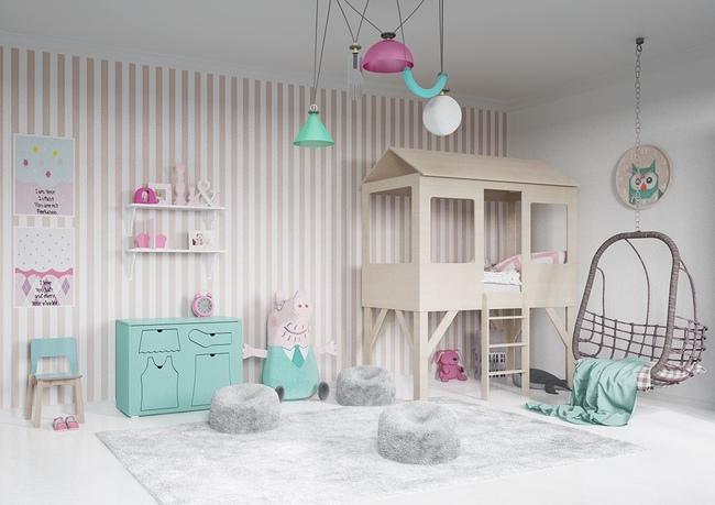 10 mẫu phòng ngủ cho bé đầy màu sắc và không gian vui chơi - Ảnh 26.
