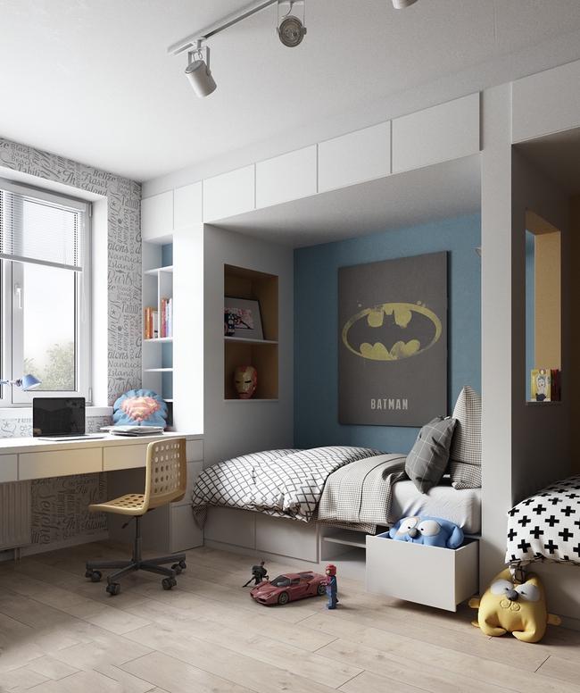 10 mẫu phòng ngủ cho bé đầy màu sắc và không gian vui chơi - Ảnh 27.