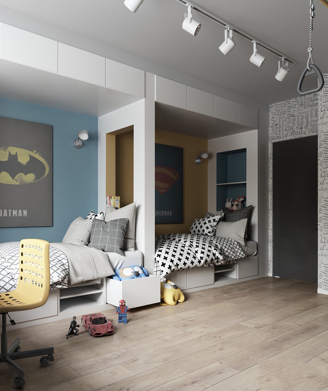 10 mẫu phòng ngủ cho bé đầy màu sắc và không gian vui chơi - Ảnh 30.