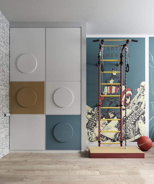 10 mẫu phòng ngủ cho bé đầy màu sắc và không gian vui chơi - Ảnh 31.