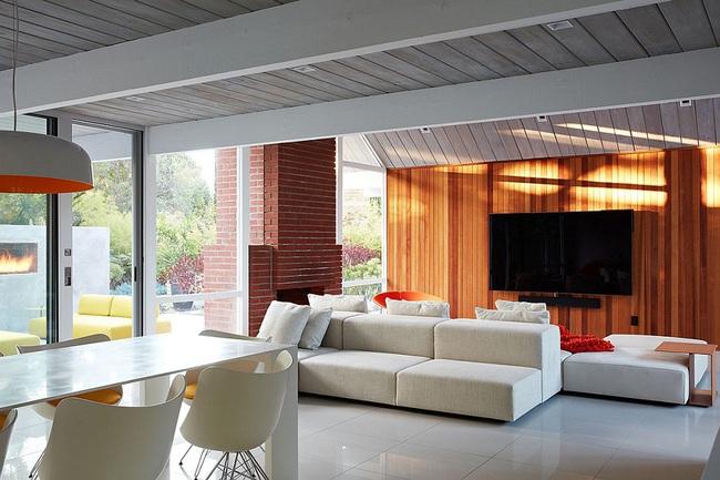 Ngôi nhà sử dụng tới 70% chất liệu gỗ đẹp đến không thể rời mắt - Ảnh 4.
