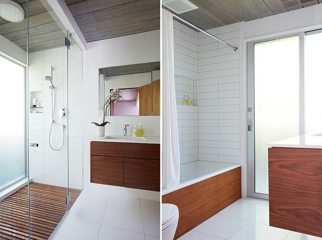 Ngôi nhà sử dụng tới 70% chất liệu gỗ đẹp đến không thể rời mắt - Ảnh 13.