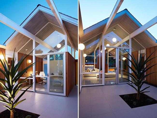 Ngôi nhà sử dụng tới 70% chất liệu gỗ đẹp đến không thể rời mắt - Ảnh 14.