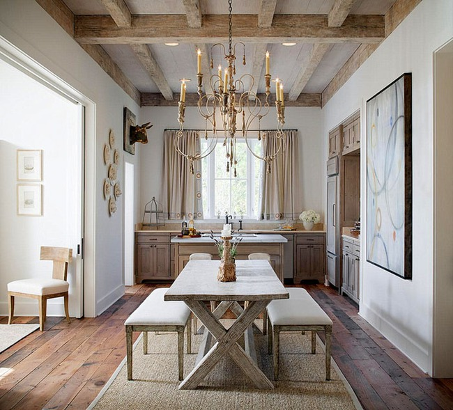 Những quy tắc phải nhớ nếu muốn có một phòng ăn mang phong cách đồng quê - Ảnh 6.