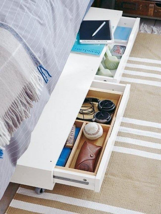 Ý tưởng lưu trữ đồ thông minh trong phòng ngủ - Ảnh 3.