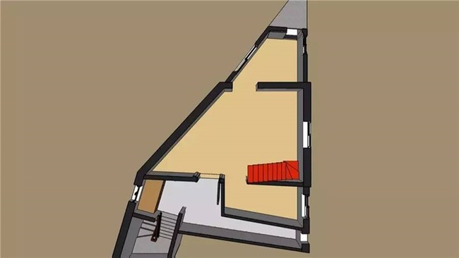 Ngôi nhà lụp xụp trên mảnh đất hình tam giác lột xác đẹp đến ngỡ ngàng - Ảnh 4.