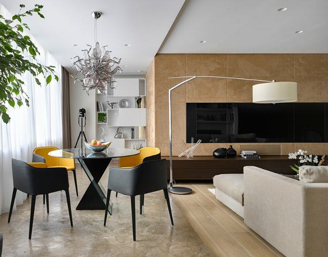 Ngôi nhà được sử dụng toàn màu be mà không hề nhàm chán   - Ảnh 4.