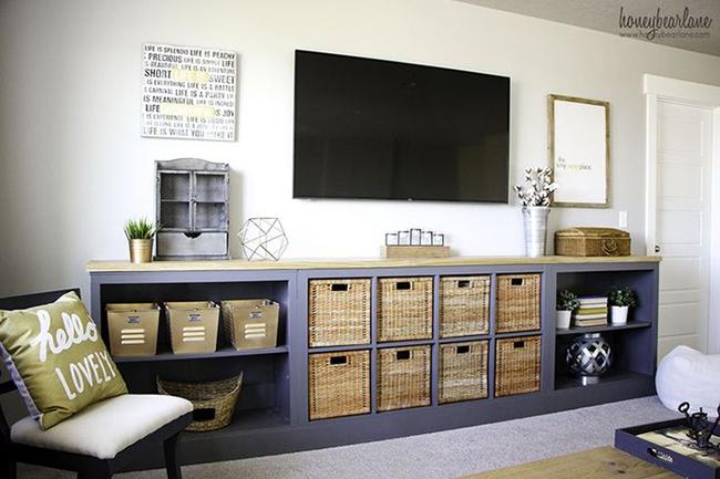 7 cách hay giúp bạn tận dụng tối đa phòng khách để lưu trữ đồ - Ảnh 2.