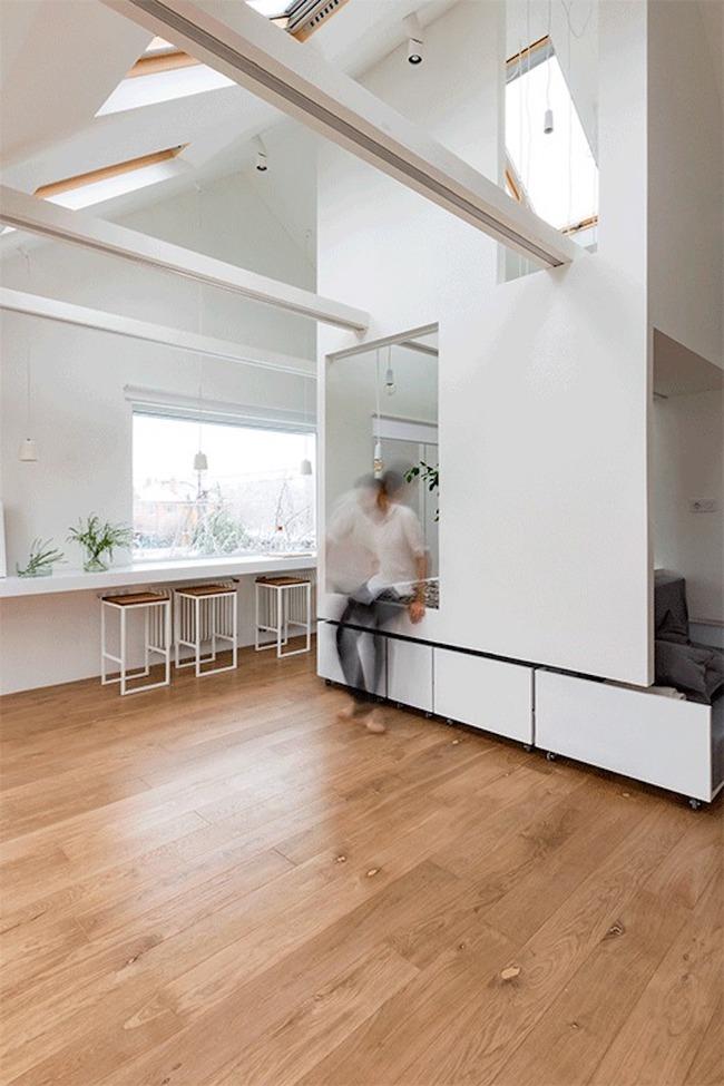 Ấn tượng với ngôi nhà chỉ 48m² nhưng có khoảng xanh cực bắt mắt với phòng khách treo lơ lửng - Ảnh 6.
