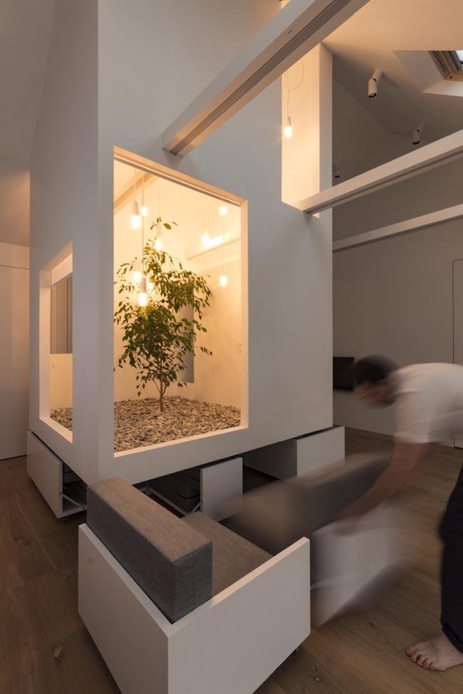 Ấn tượng với ngôi nhà chỉ 48m² nhưng có khoảng xanh cực bắt mắt với phòng khách treo lơ lửng - Ảnh 10.