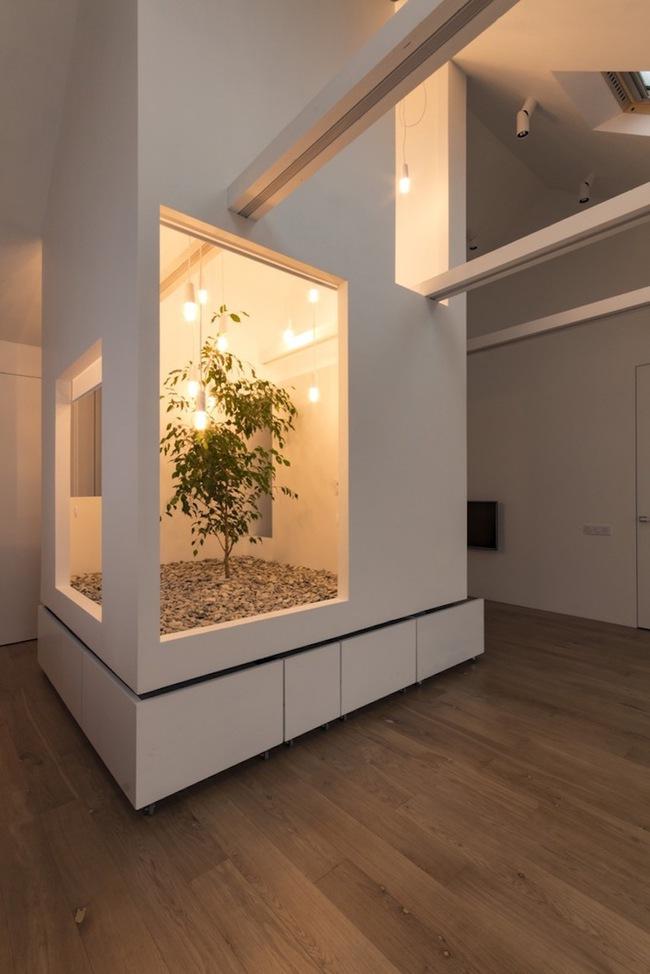 Ấn tượng với ngôi nhà chỉ 48m² nhưng có khoảng xanh cực bắt mắt với phòng khách treo lơ lửng - Ảnh 13.