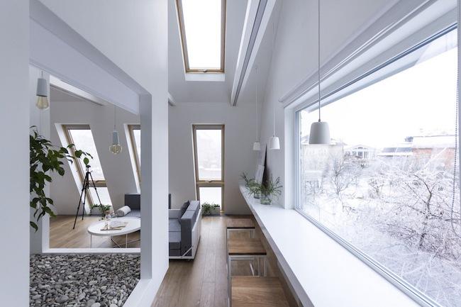 Ấn tượng với ngôi nhà chỉ 48m² nhưng có khoảng xanh cực bắt mắt với phòng khách treo lơ lửng - Ảnh 17.