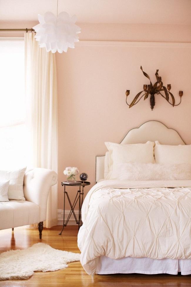 Ngọt ngào như những căn phòng ngủ sơn màu hồng đào - Ảnh 1.